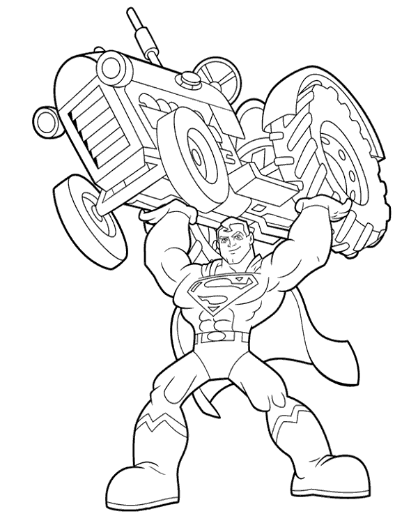 Superman Colouring Page 22 To Print Or Download For Free