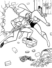 Comic coloring pages