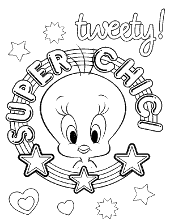 Tweety super chick coloring books