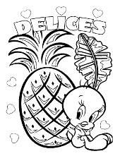 Tweety with pineapple