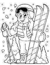 Winter sport child