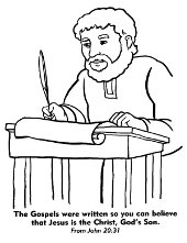 Priest colouring page