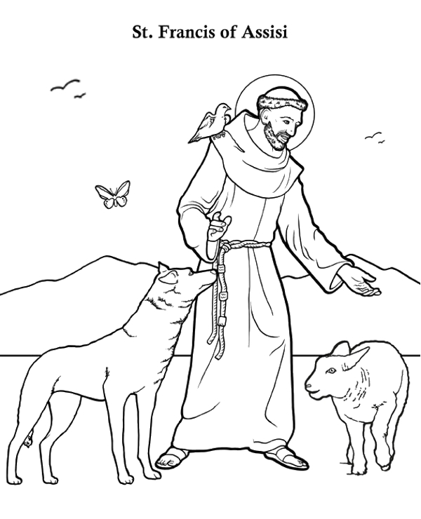 Biblical saints to colour