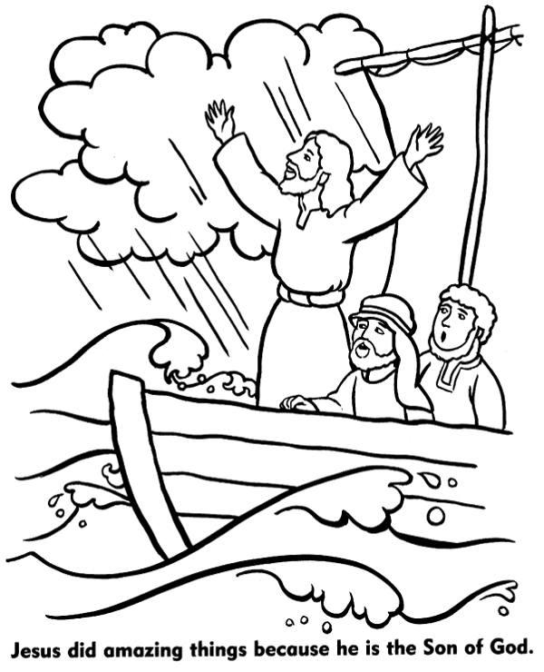 Jesus miracle coloring sheet