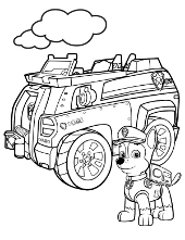 Printable coloring page Chase