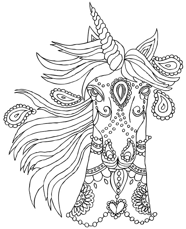 Pictures To Color With Unicorn