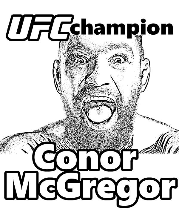 Conor McGregor Free Coloring Page UFC MMA