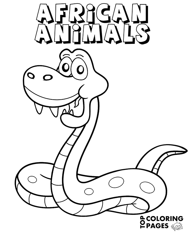 Snake Coloring Page African Animals To Color For Free