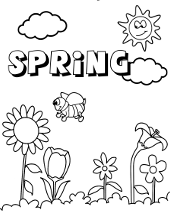 Spring Coloring Pages Pictures Topcoloringpages Net