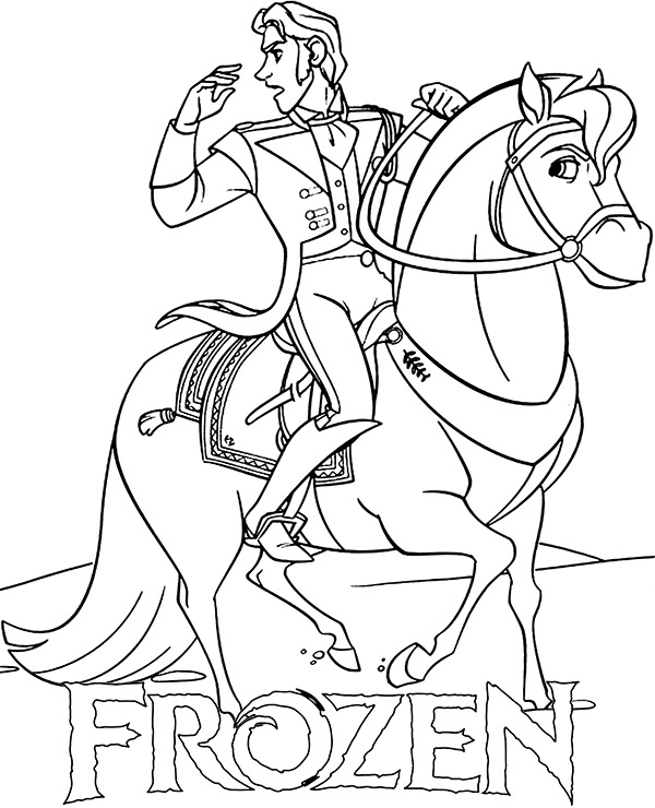 Hans On Horse Coloring Page To Print Or Download And Color