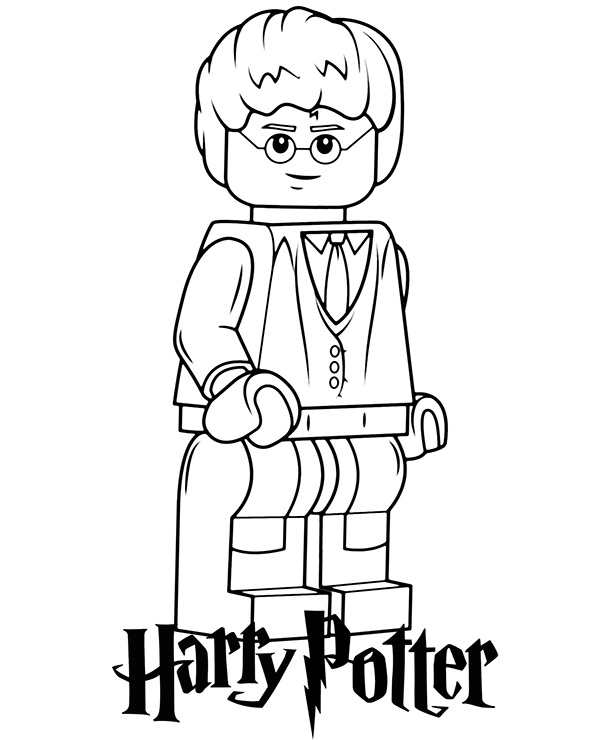 harry potter lego minifigure  topcoloringpages