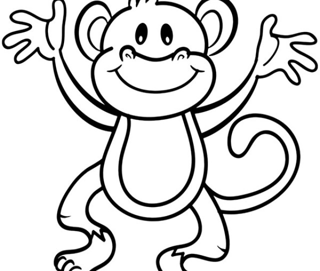African Animals Coloring Pages Little Monkey To Download