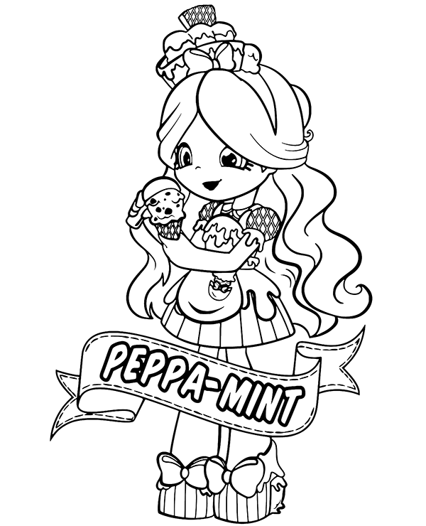 Printable Peppa Mint Coloring Page For Girls