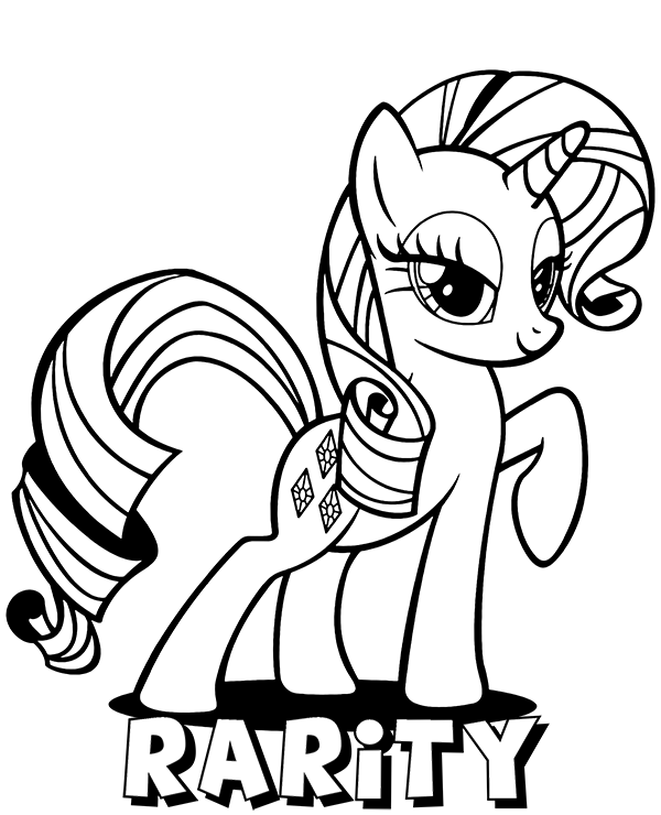 Rarity Pony Coloring Page Topcoloringpages Net