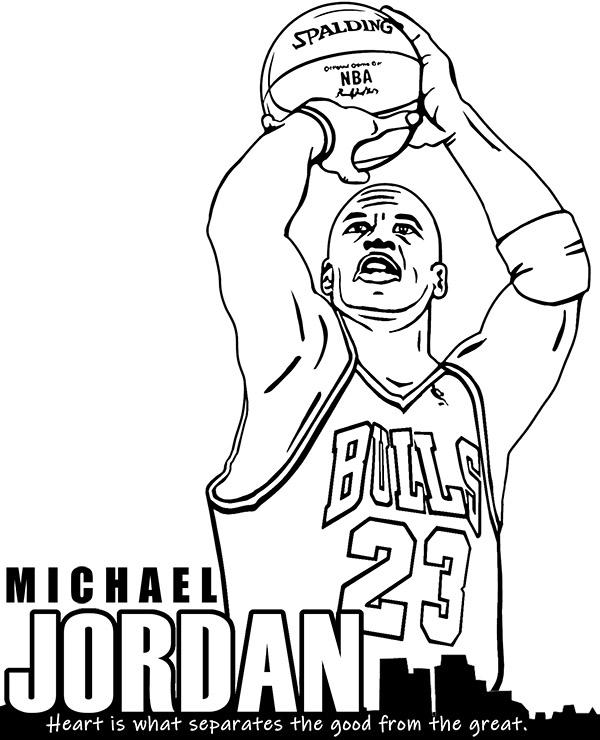 michael jordan coloring page chicago bulls