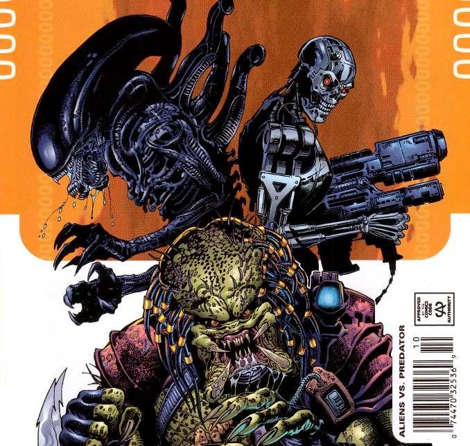 comics crossover Terminator Aliens Predator