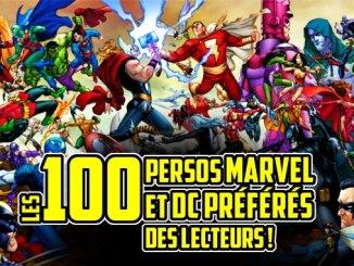 classement des superhéros Marvel et DC préférés des lecteurs
