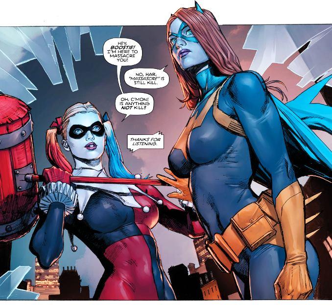 Heroes in Crisis harley quinn batgirl