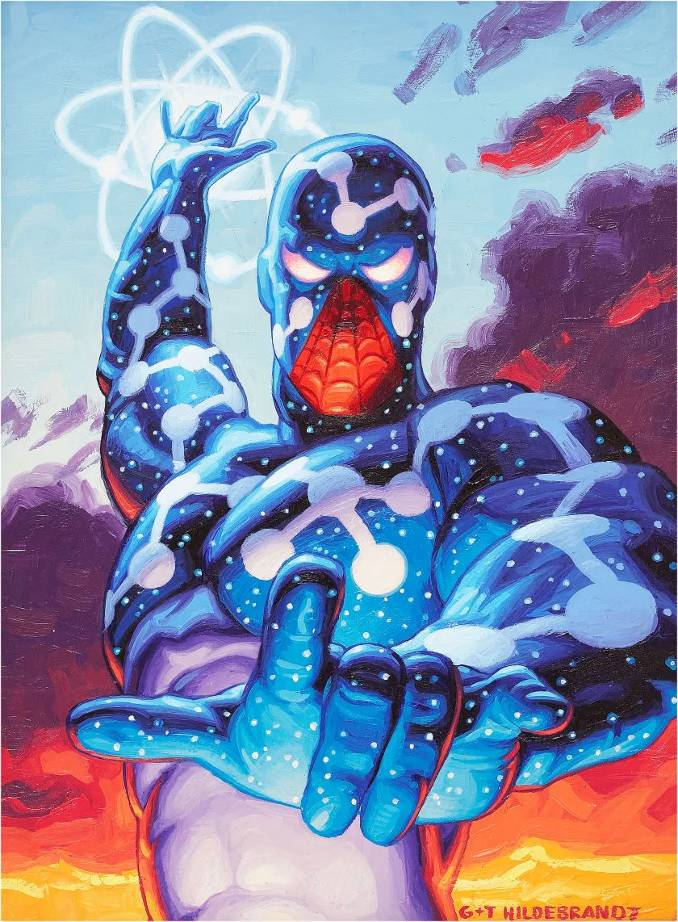 superhéros pouvoirs améliorés marvel dc spider-man captain universe