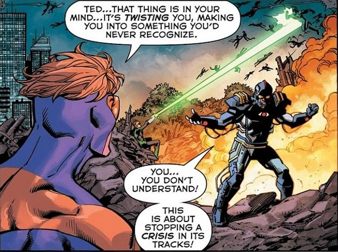 Dark Infinite Crisis Booster Gold Blue Beetle