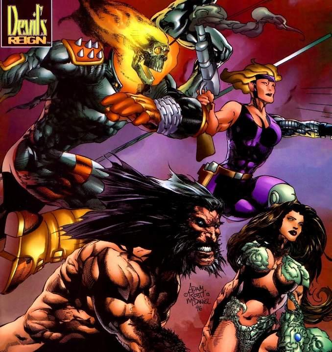 Witchblade Wolverine Ghost Rider Ballistic