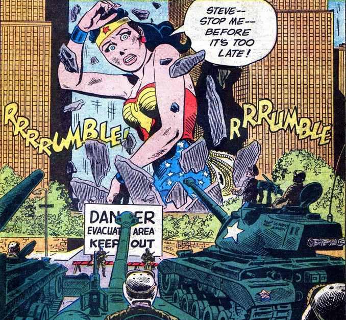 Wonder Woman géante
