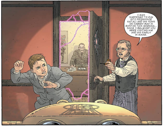 Locke and Key in pale batallions go