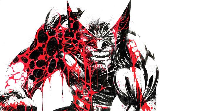 Wolverine Black White Blood