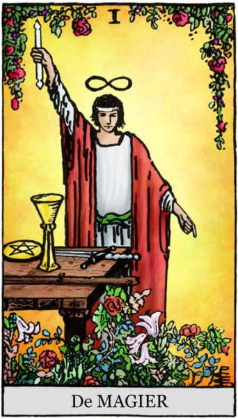 De Magiër Tarotkaart
