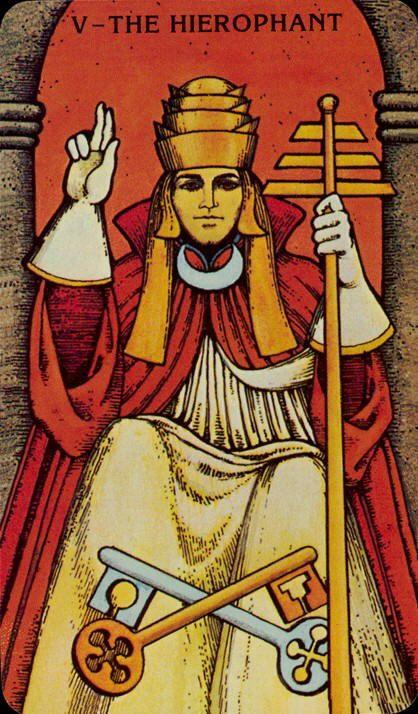 Hogepriester Tarotkaart