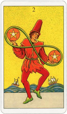 Tarot 2 Pentakels