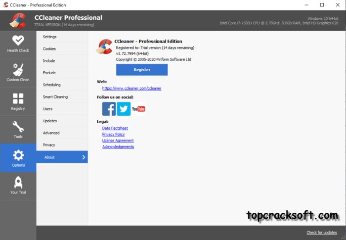 CCleaner Pro 5.72.7994 Crack Full Version Download [Lifetime]