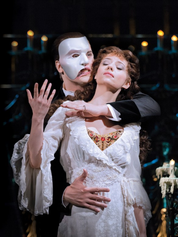 Geronimo Rauch as The Phantom and Sofia Escobar as Christine in The Phan...