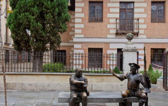 Fachada de la Casa Natal de Cervantes en Alcalá de Henares