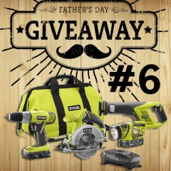 Father's Day Giveaway #6: Ryobi 4pc Super Combo Kit