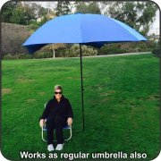 EasyGo-Products-Brella-the-Ultimate-2-in-1-Umbrella-Shelter-Beach-Cabana-Tent-Sun-Shelter-Sets-Up-in-Seconds-Blue-0-0