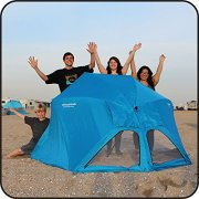 EasyGo-Products-Brella-the-Ultimate-2-in-1-Umbrella-Shelter-Beach-Cabana-Tent-Sun-Shelter-Sets-Up-in-Seconds-Blue-0-2