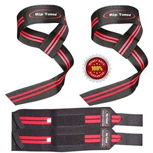 Rip-Toned-Lifting-Straps-Wrist-Wraps-Bundle-2-Pairs-Red-Bonus-Ebook-For-Weightlifting-Crossfit-Workout-Gym-Powerlifting-Bodybuilding-Lifetime-Replacement-Warranty-0
