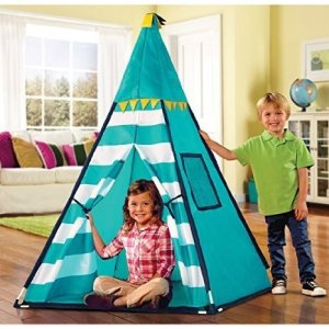 Discovery-Kids-Turquoise-Adventure-Teepee-Tent-0
