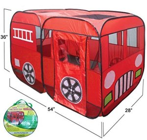 Large-Red-Fire-Truck-Pop-Up-Play-Tent-Fire-Engine-with-Side-Door-Entrance-for-Boys-or-Girls-for-Indoor-or-Outdoor-Use-By-WooHoo-Toys-0
