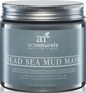 Art-Naturals-Dead-Sea-Mud-Mask-for-Face-Body-88-oz-100-Natural-and-Organic-Deep-Skin-Cleanser-Clears-Acne-Reduces-Pores-Wrinkles-Ultimate-Spa-Quality-Mineral-Infused-Additive-Free-0