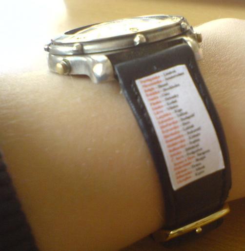 tahak na hodinkach