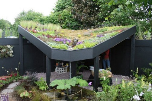 5. Zelené steny, záhradné strechy Interiérové trendy