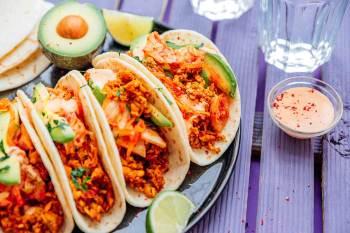 6.Kimchi-Tempeh-Tacos 10 jedál na chudnutie