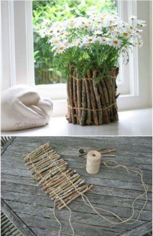 Kvetináč z čistého dreva