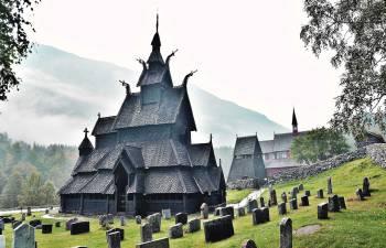 Borgund Stave Church, Nórsko