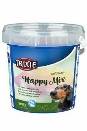 Trixie Soft Snack Happy MIX kuře,jehněčí,losos 500g