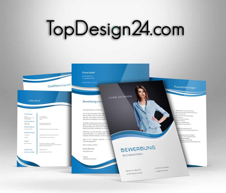 Muster Bewerbung – Blue -TopDesign24