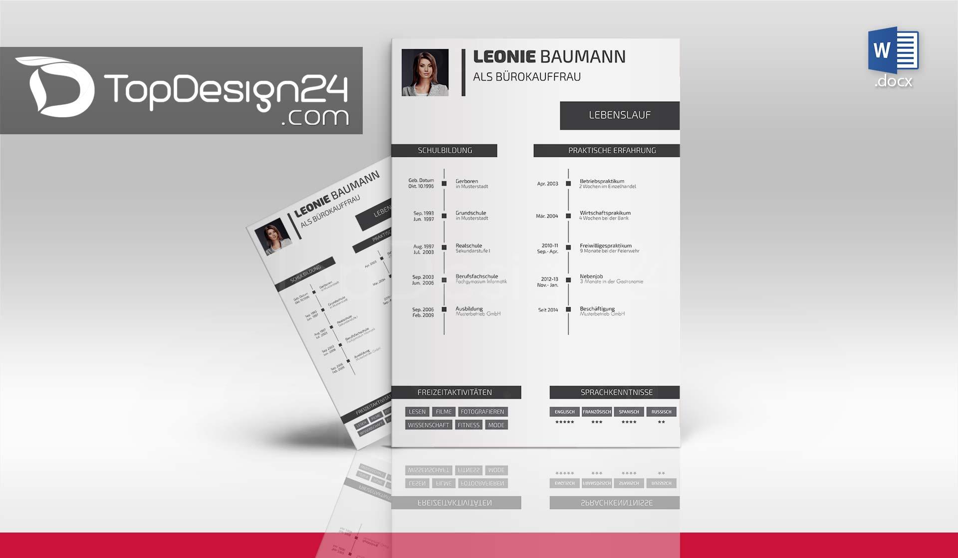 Lebenslauf Vorlage Design download
