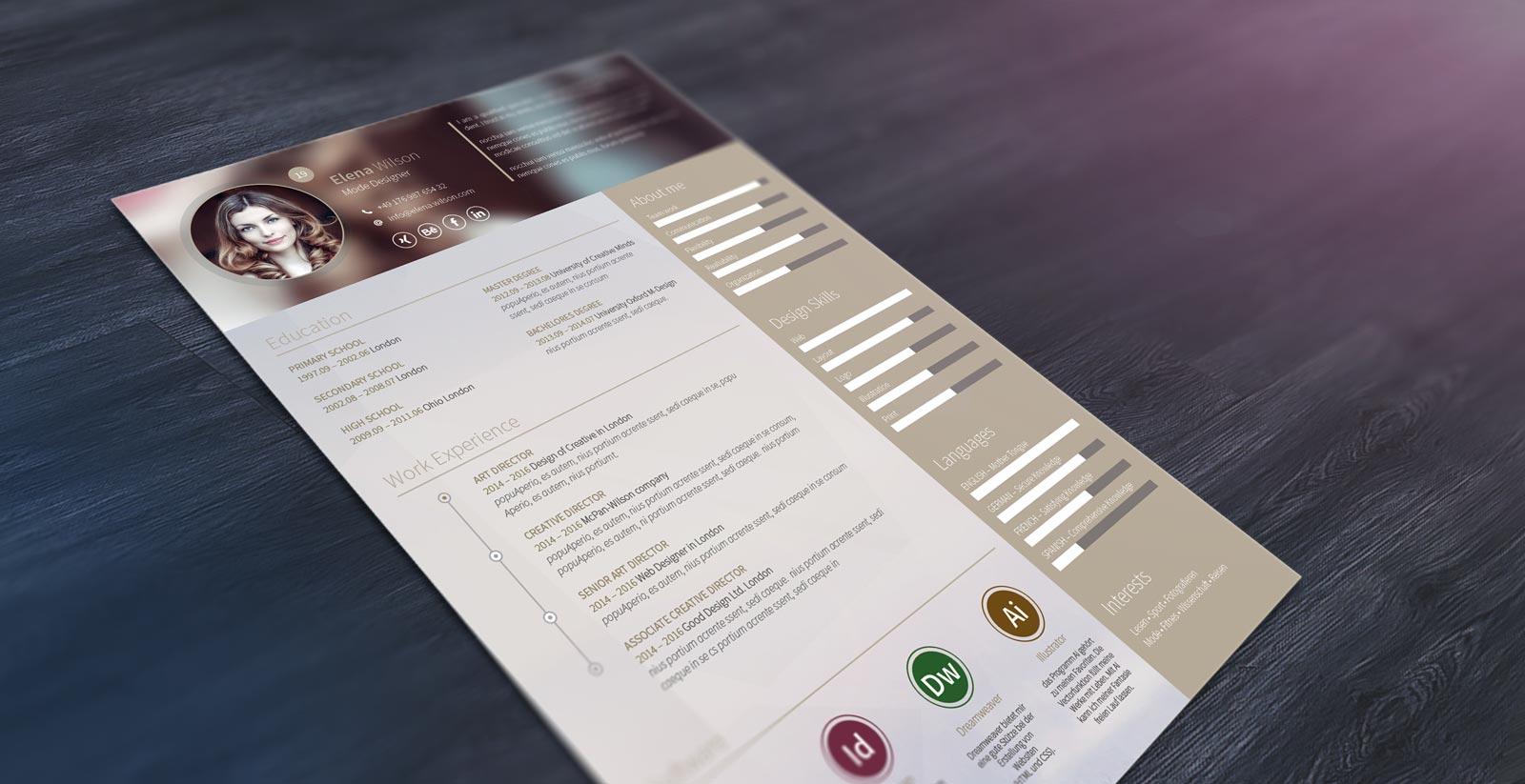 Topdesign24 | Lebenslauf Design 2017 - Kostenlos Downloaden
